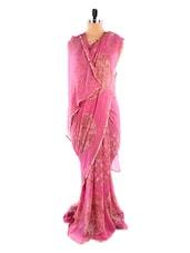 Pink And Gold Saree - Fabdeal