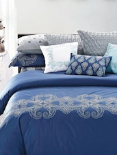 Blue And White Printed Bed Linen Set - Maishaa