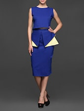 Cotton Crop Top And Pencil Skirt Set - Miss Chase
