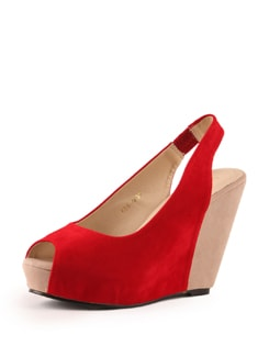 Red Wedge Heels - Tresmode