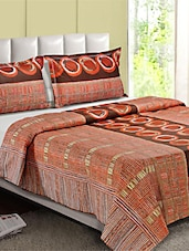 100 % Cotton  Double Bed Sheet With 2 Pillow Cover - Desi Connection - 953264