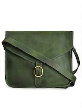 Forest Green Satchel Sling Bag - Paradigm