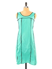Chic Sea Green With Black Piping - Missy Miss