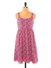 Chic Printed Pink Tone Dress - Missy Miss