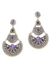 Iris Blue Gold Metallic Earrings - ESmartdeals