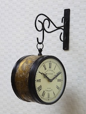 Paisley Patterned Victoria Station Double Sided Clock - Medieval India