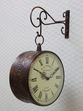 Copper Victoria Station Double Sided Clock - Medieval India