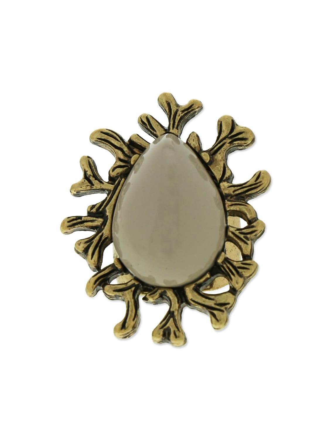 Lavender And Gold Stone Metallic Ring - By