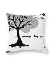 Black And White Cotton Printed Cushion Cover (Set Of 5) - By - 9545526