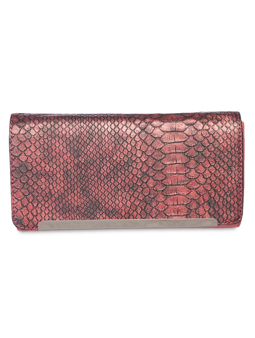 Maroon Printed Leatherette Sling Bag - By