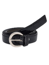 Black Faux Leather Belts - By