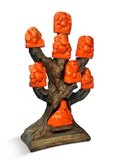 Multicolored Polyresin Solid Ashtvinayak Tree Decor Piece - By
