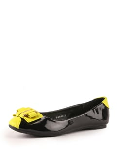 Black And Yellow Ballerinas - Tresmode