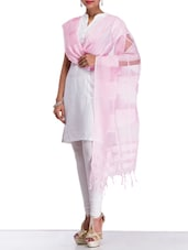 Light Pink Net Dupatta - By