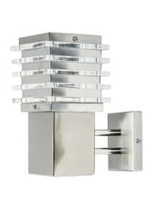 Contemporary Square Stainless Steel Wall Sconce - Fos Lighting