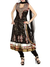Beautiful Black Net Anarkali Suit - By
