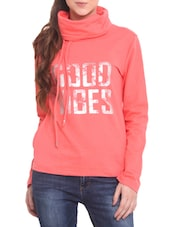 Pink Fleece Printed Sweat Shirt - By