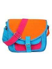 Bright Blue Colourblocked Bag - Bags Craze