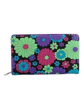 Multicoloured Floral Patterned Clutch - Bags Craze