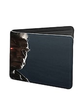 Black Leather Terminator With Gun Leather Wallet - By