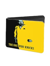 Black Leather The One Who Knocks Leather Wallet - By
