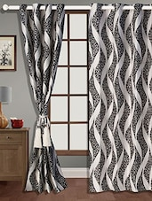 Black And White Polyester Curtain - Zyne