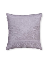 Mauve Printed Cotton Cushion Cover ( Set Of 2 ) - By - 9559587