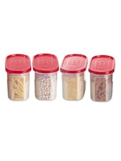 Red Storage Containers (set Of 4) - Primeway Elite