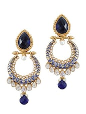 Antique Blue Stone Earrings - Rich Lady