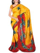 Yellow Dani Printed Saree - By