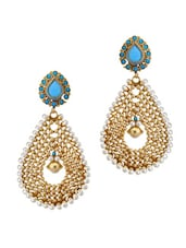 Bollywood Style Sky-blue Earrings - Rich Lady
