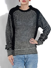 Black And Grey Acrowool Pullover - By