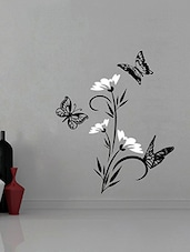 Abstract Flowers With Butterflies Wall Sticker Decal - By