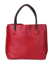 maroon faux leather handBag -  online shopping for handbags