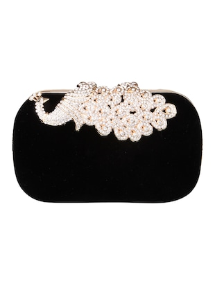 black velvet clutch -  online shopping for clutches