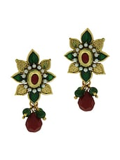 Multicoloured Beads Embellished Earrings - By - 9567648