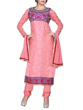 Light Pink Semi-stitched Salwar Suit - Sixmeter