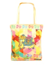 Happy Elephnant Canvas Travel Tote - Urban Desi