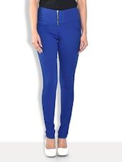 Royal Blue Cotton Lycra Jeggings - By