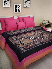 Multicolored Cotton Embroidered Double Bed Quilt - By