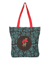 Brown And Blue Tote Bag - Pick Pocket