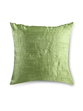 Olive Green Poly Cotton Cushion Covers (Set Of 2) - By