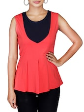 Peach Sleeveless Jersey Top - By
