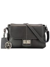 Grey Genuine Leather Crossbody Bag - Phive Rivers
