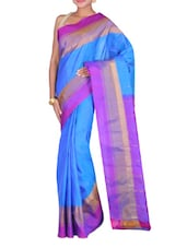 Blue Kanjivaram Silk Sari - By