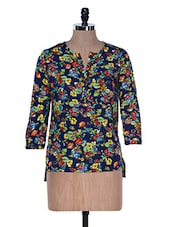 Floral Print Colourful Top - La Zoire