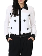 White And Black Shirt - Stykin