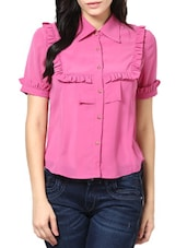 Pink Short-Sleeved Shirt - Stykin