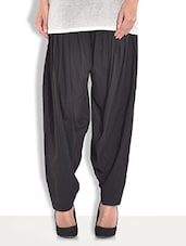 Black Cotton Plain Patiala - By
