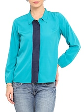 Sky Blue Full Sleeved Polyester Shirt - By